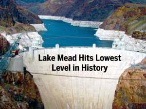 Lake Mead in May hit its lowest point in May as levels dropped below 1075 feet.