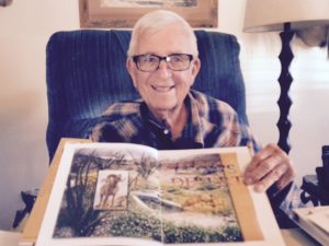 Brawley resident and Imperial Valley native Leon Lesicka is pictured with the book, Leon's Desert, which was penned by former Congressman Duncan L. Hunter about Lesicka's work as a conservationist in the Imperial Valley desert.